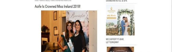 Aoife is crowned Miss Ireland  – Gabrielles Diary
