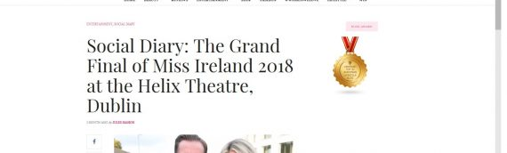 Social Diary -The grand final of Miss Ireland 2018 at the Helix